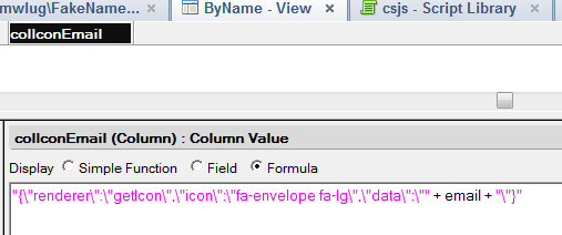 Adding icon columns to DataTables with FontAwesome | Xpage me